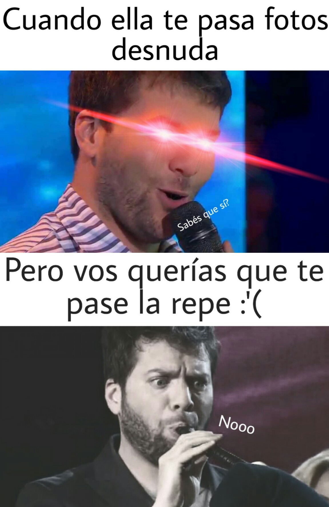 A VER A VER, PASAME LA REPE - meme