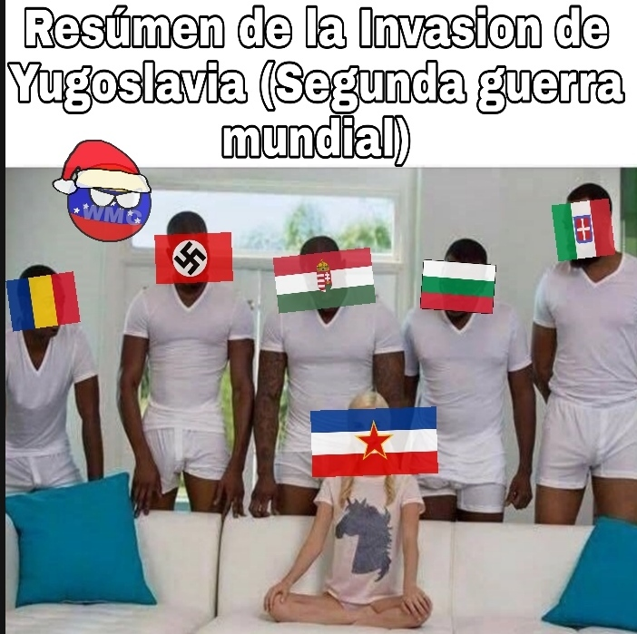La invasión de Yugoslavia fue como un machetazo en la cabeza - meme