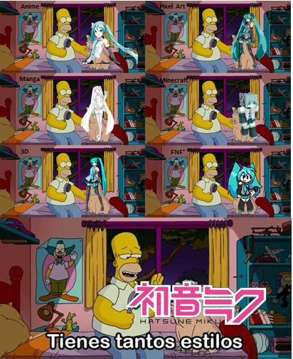 Hatsune Miku tiene tantos estilos... - meme
