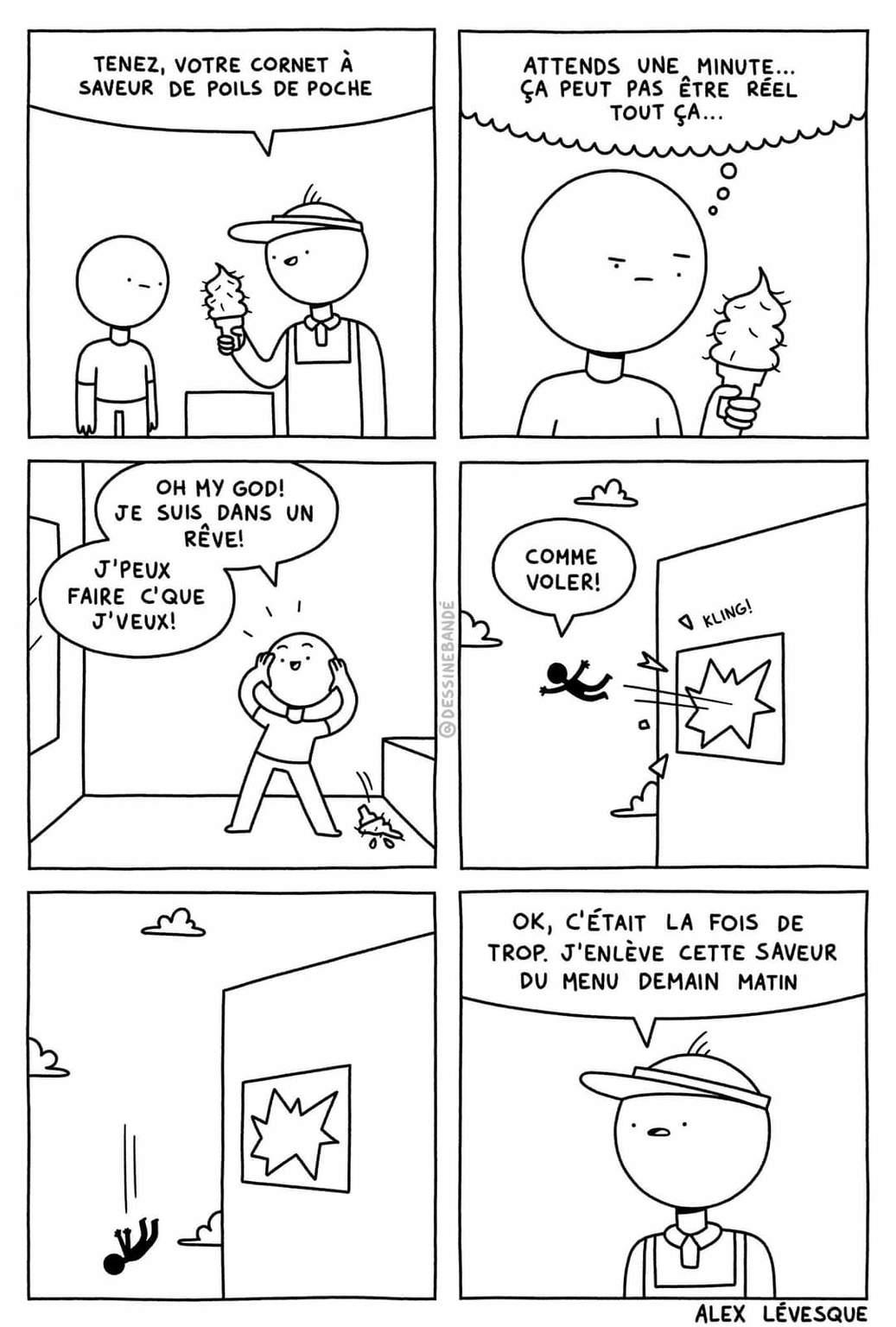 Alex Lévesque dessine bandé - meme
