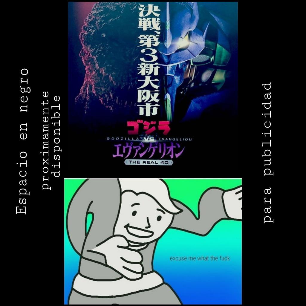 Contexto: es un cortomentraje de ShinGodzilla y Evanyelion, que fue hechobpor universal ictures japón como una atracción pd: Tl2bie tiene un video al respecto, él lo explica mejor - meme