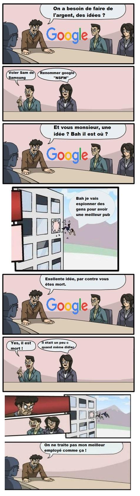 Et c'est comme que google s'est mis à nous espionner LOL - meme