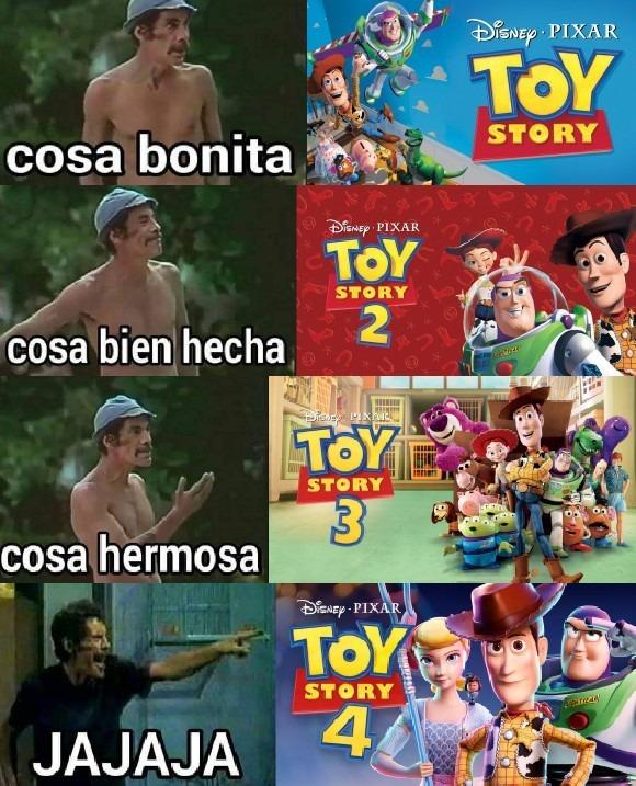 Toy Story 4 fue la peor - meme