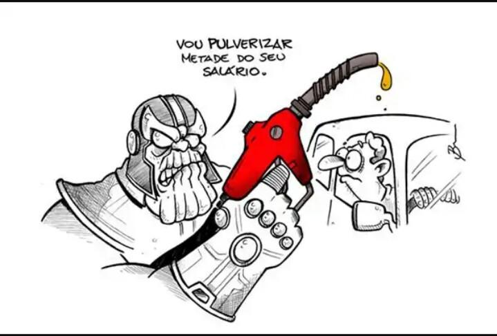 Gasolina à 6 reais até o fim do ano. - meme