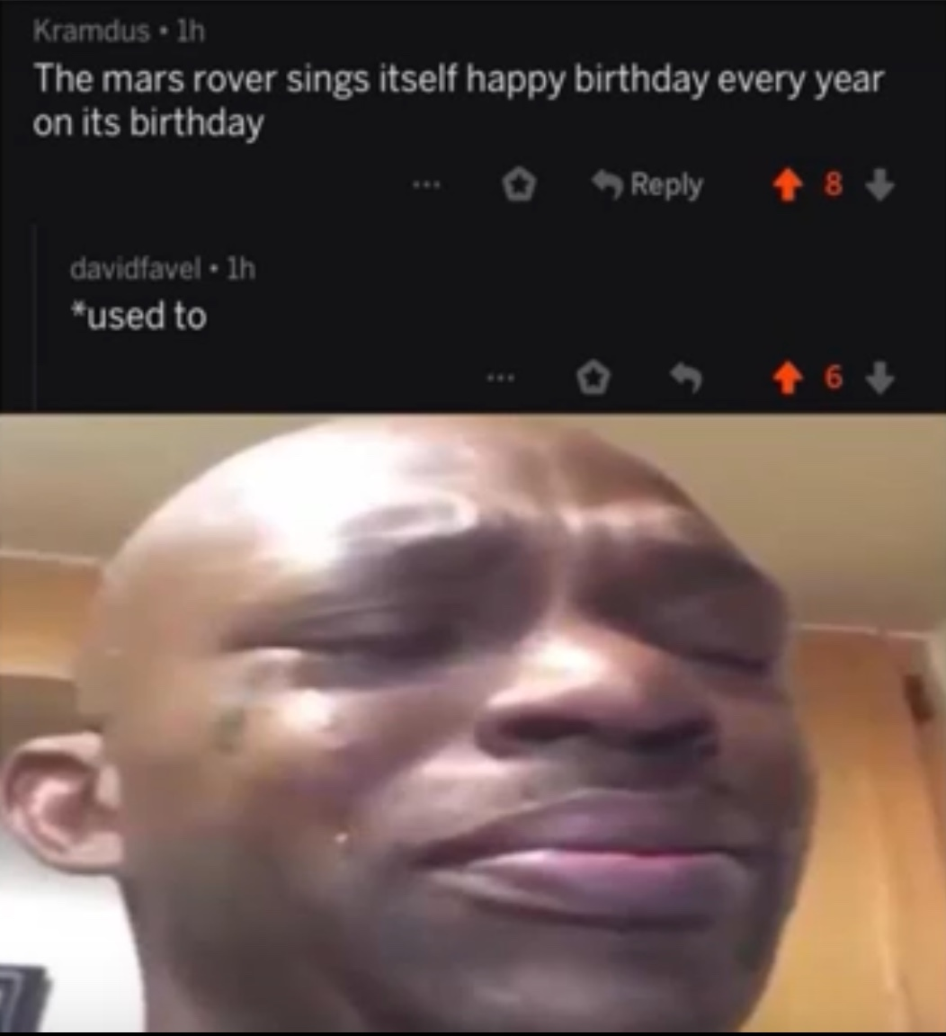Rip Mars Rover - meme