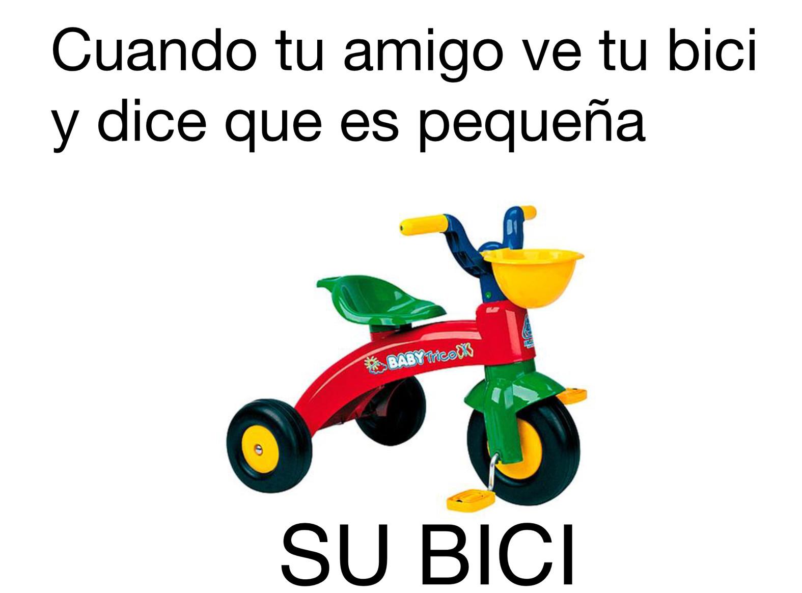 Bici fachera - meme