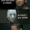 Au moins je suis blanc