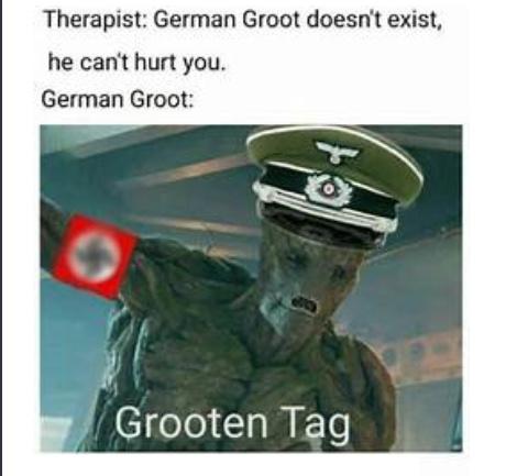 G R O O T E N    T A G - meme