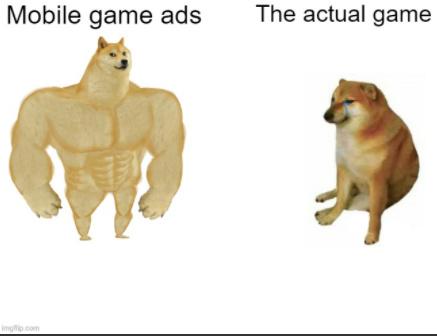 moblie ads be like - meme