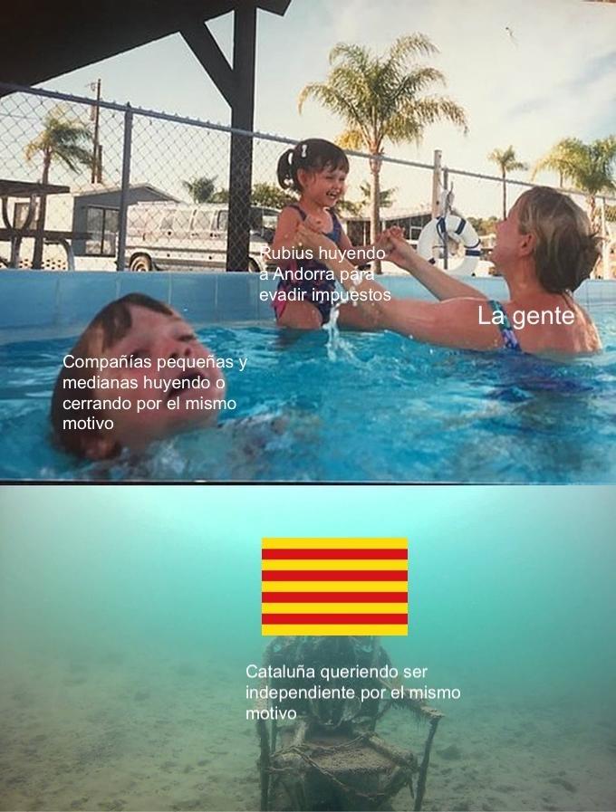 contexto: Cataluña es una de las comunidades más pobladas y que aporta más pero el presupuesto es mucho menor y los zoquetes al mando no ayudan - meme
