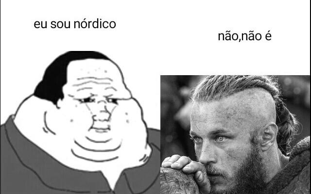 Vergonha aos escandinavos - meme
