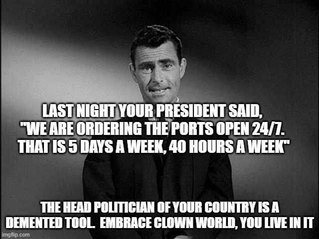 The demented Clown actually said this last night on the cnn shit show - meme