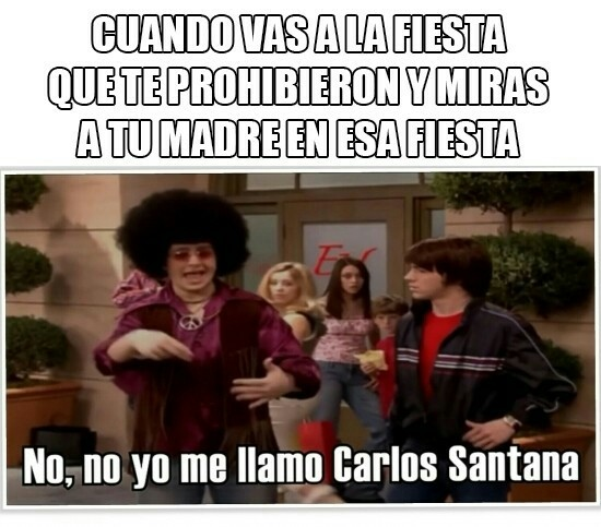 No no, yo me llamo Carlos Santana - meme