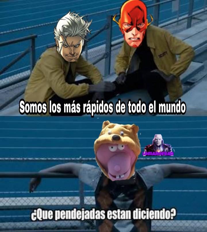 Flash y Mercurio son las perritas de Juan tastico - meme