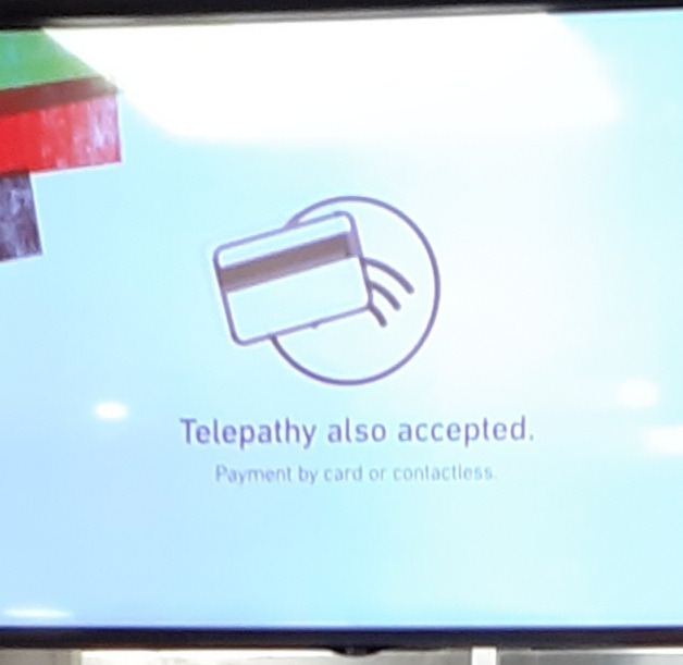 Telepathy also accepted - meme