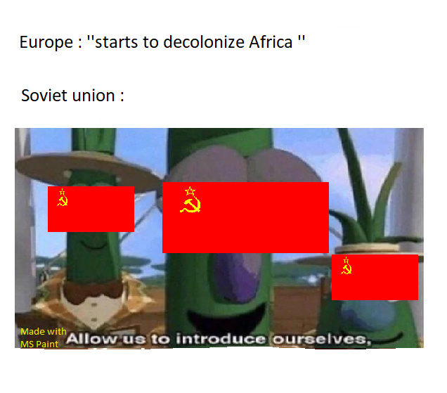 Soviet Union meets Africa - meme