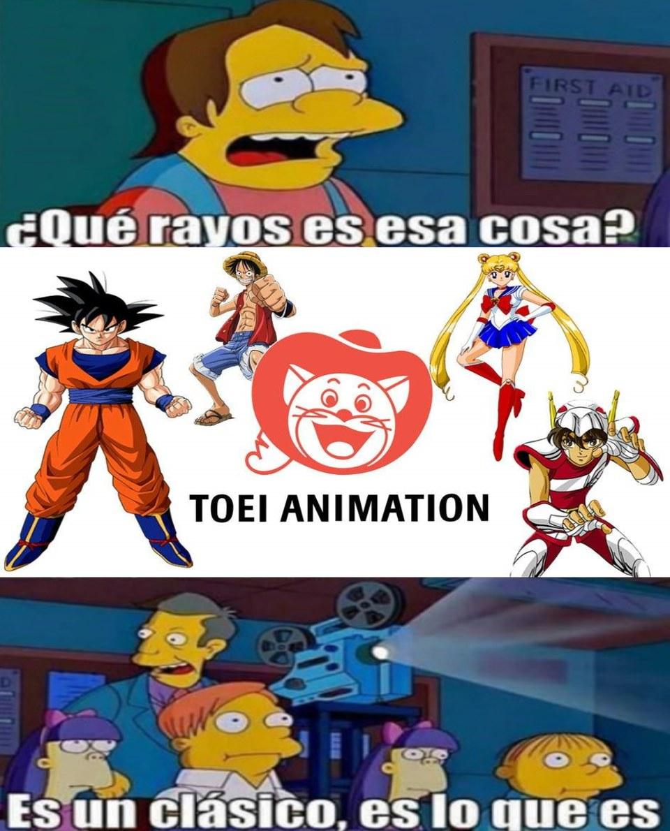 TOEI ANIMATION es un clasico - meme
