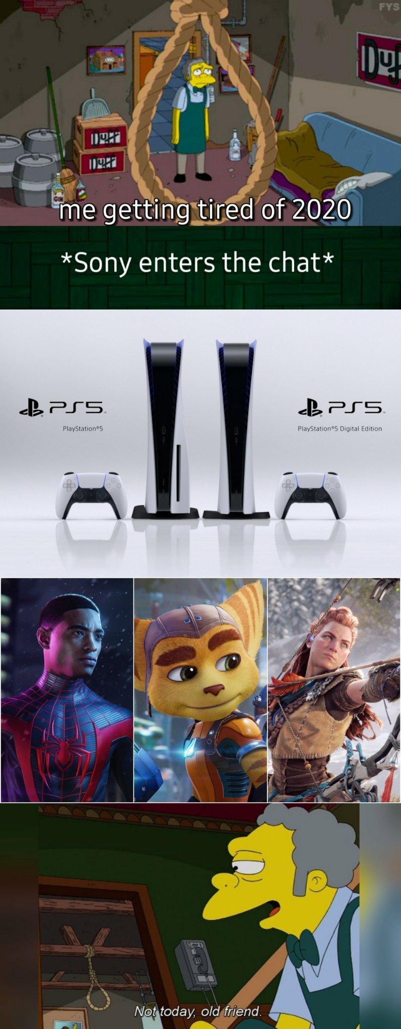 Thanks Sony. Thanks for giving me hope - meme