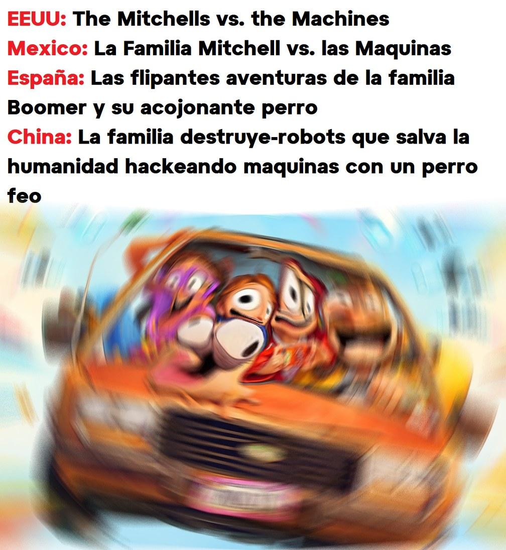"""Títulos de la Película """"La Familia Mitchell vs. las Maquinas"""" - meme"""