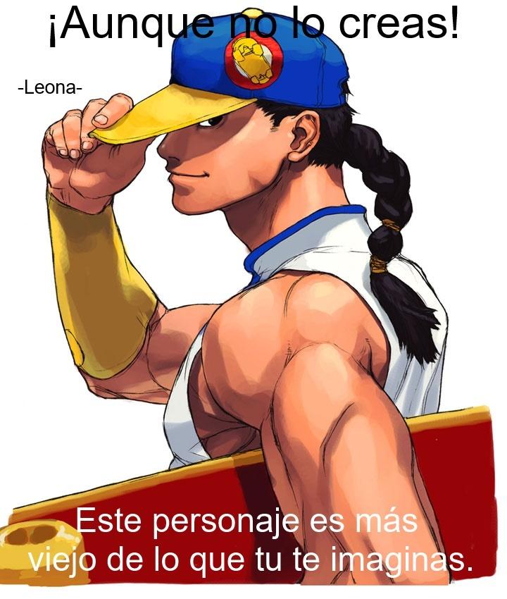 Contexto: Muchos lo reconocen por el Street Fighter 3 que es una de las entregas mas famosas y hay personas (como yo) que pensában que era un personaje nuevo, pero me di cuenta que también sale en Street Fighter Alpha 3 como un personaje desbloqueable. - meme