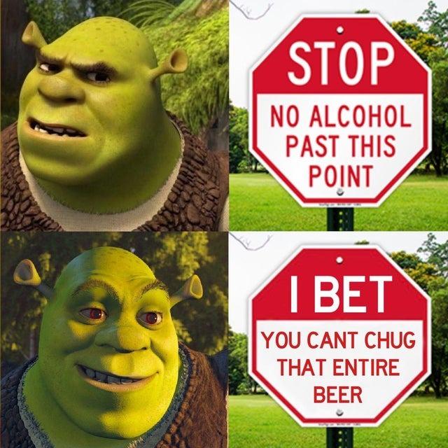 No alcohol past this point - meme