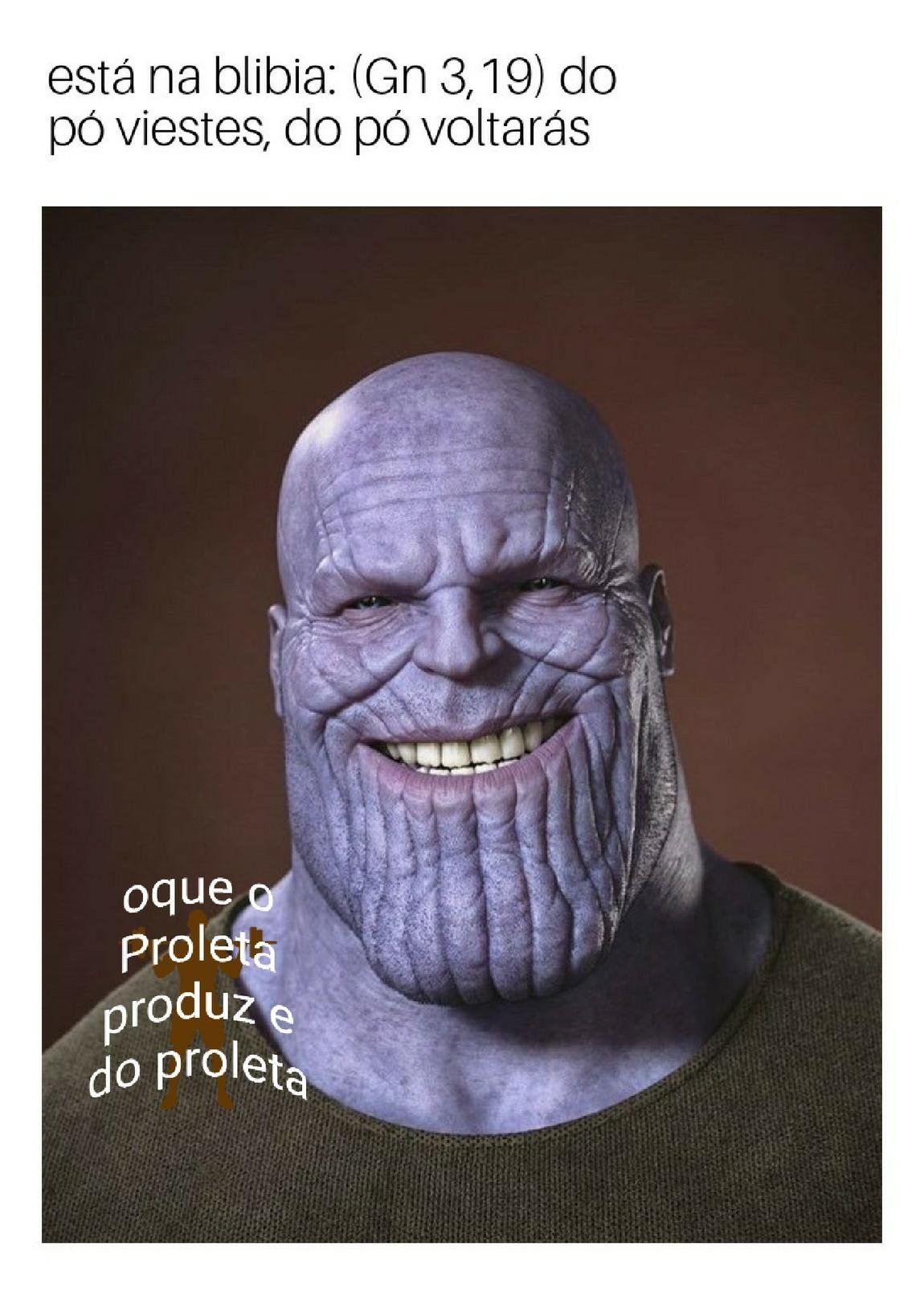 Thanos católico - meme