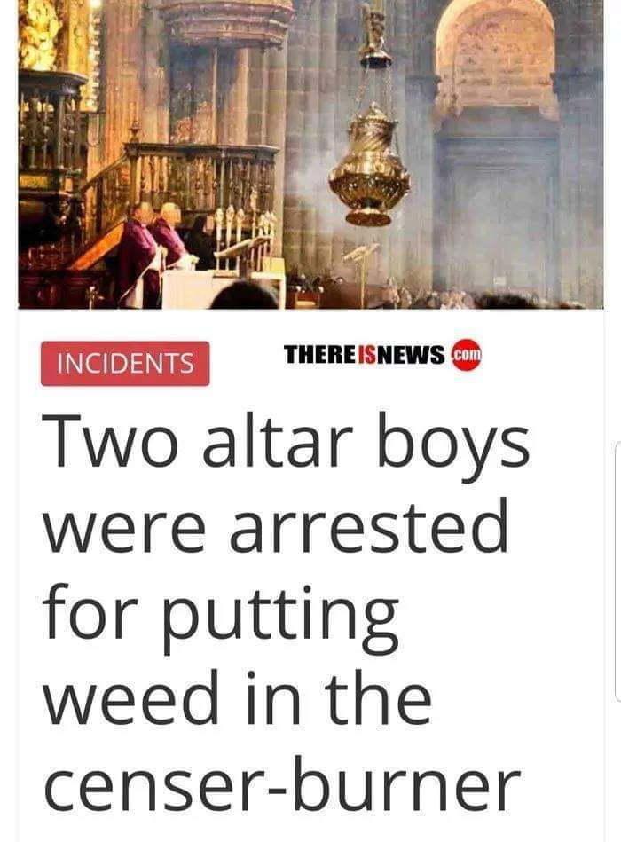 2 altar boys arrested - meme