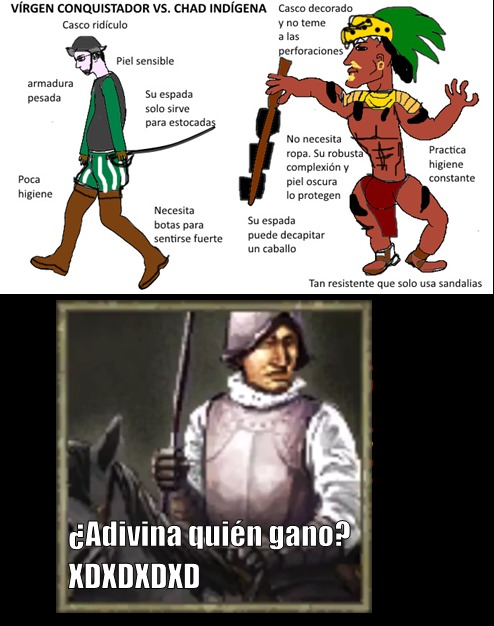 Embellecen mucho una guerra que se gano a machetazos  :wojak: - meme