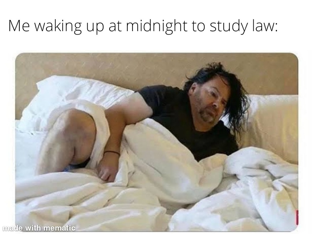 This one's for my fellow law students - meme