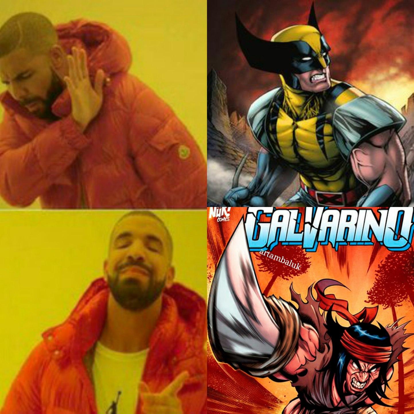 Galvarino supera a wolverine - meme