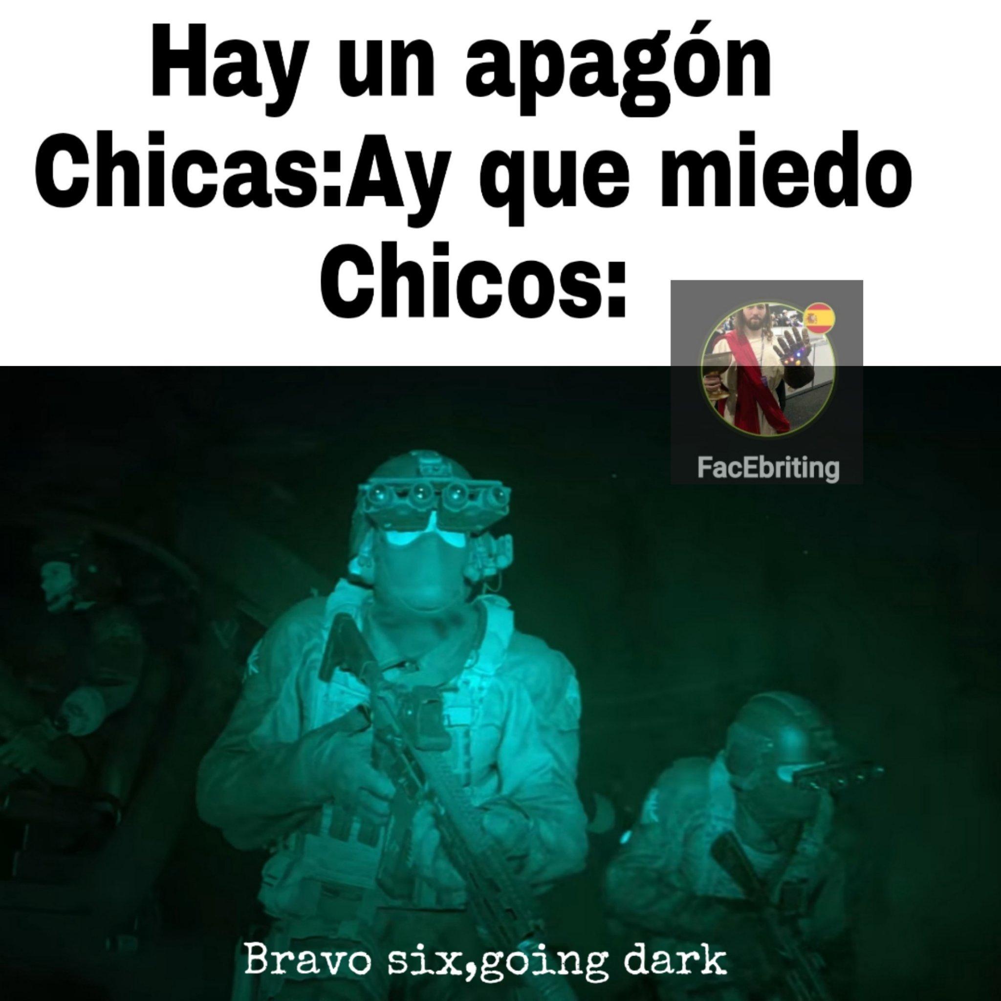 Bravo six going dark - meme