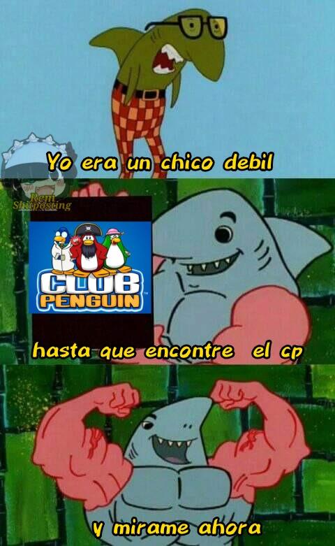 Grande el club penguin - meme