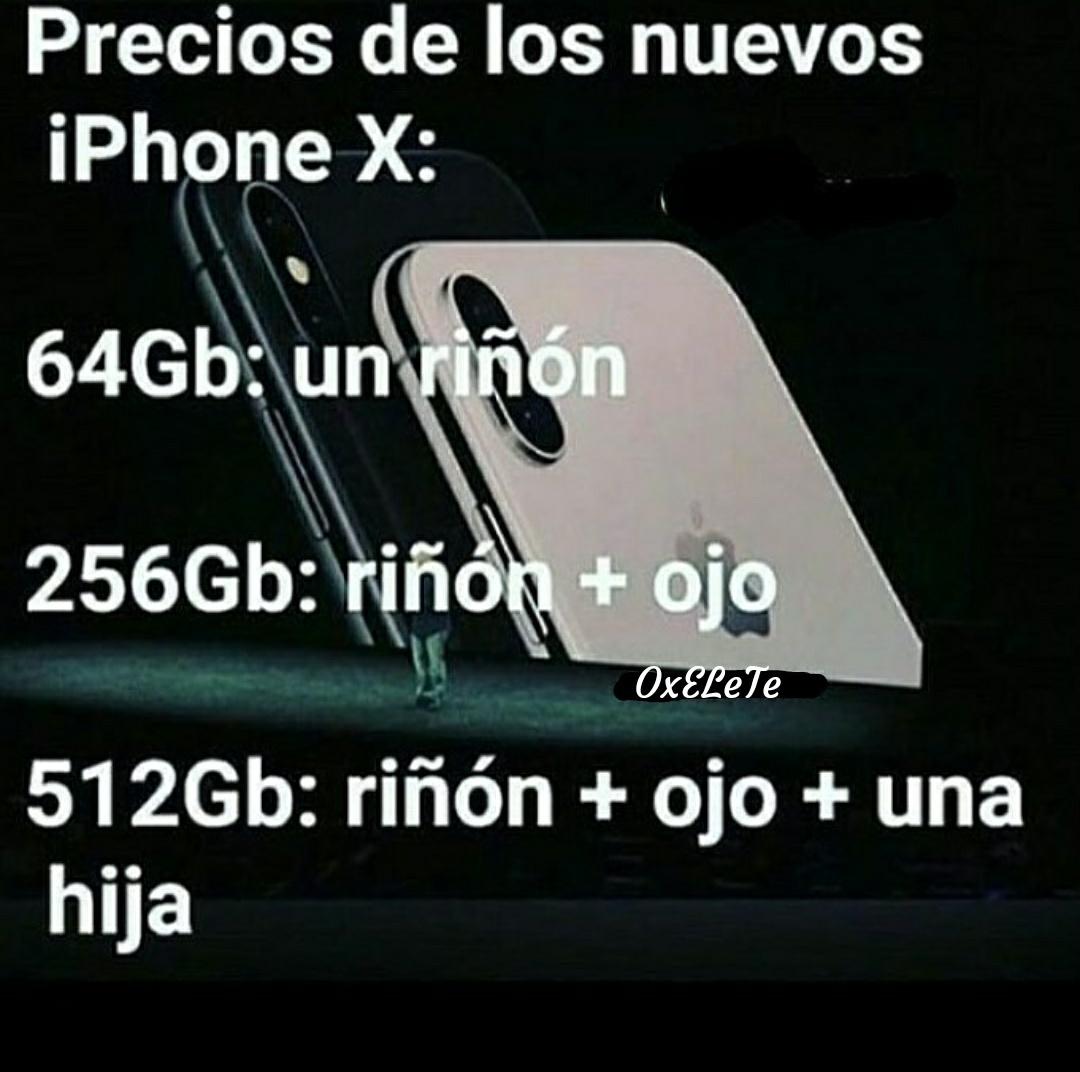 iPhone X=Pobreza eXtrema - meme