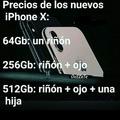 iPhone X=Pobreza eXtrema