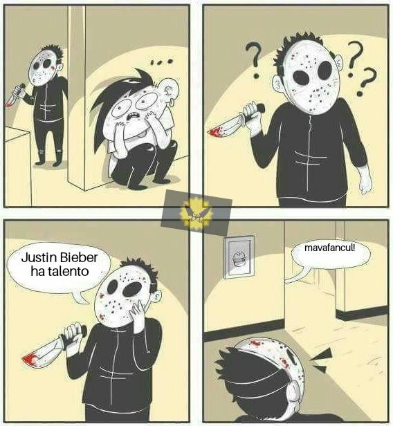 Justin Bieber puzza di culo - meme