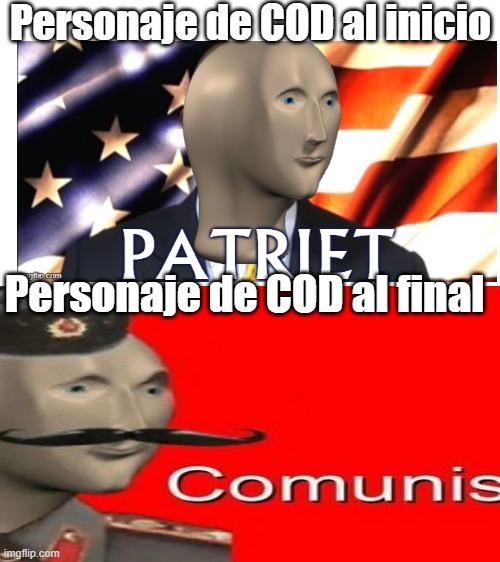 Explico: Al inicio nos ponen como americano pero al final se revela que éramos comunistas - meme