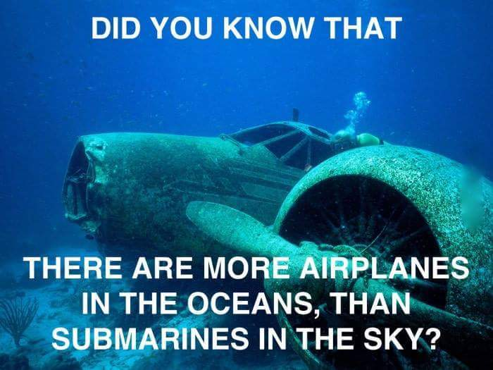 Submarines in the sky? - meme