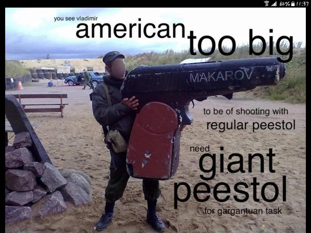 Shoot peestol, Vladimir - meme