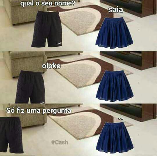 A saia tá GROSSA! - meme