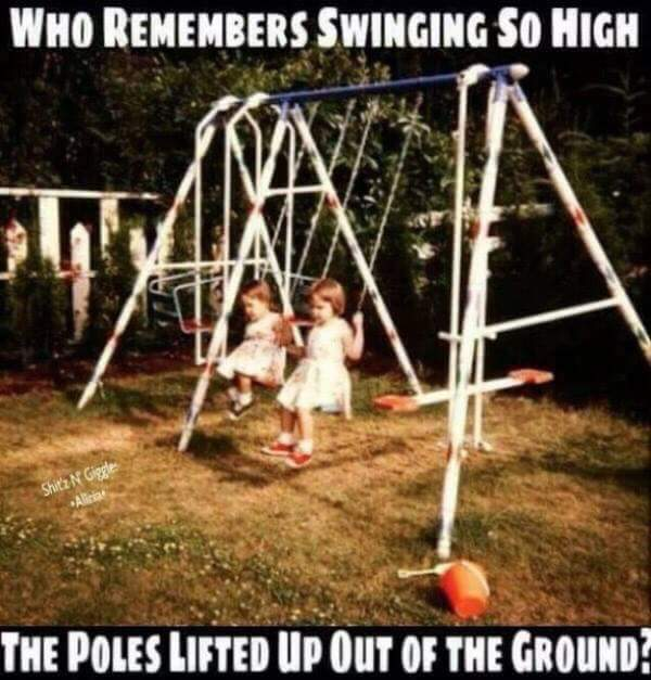 Swings in the 80s - meme