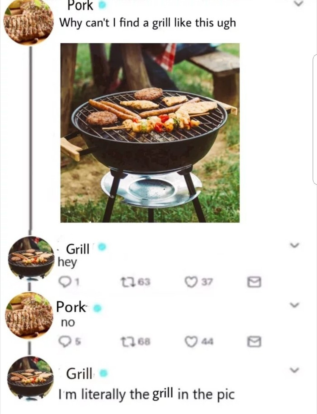 That grill is hot - meme