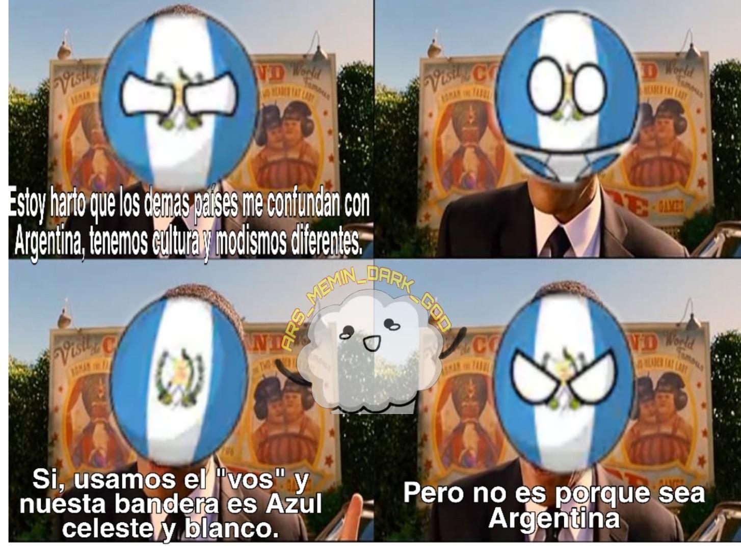 Caya argentina centroamericana :^/ - meme