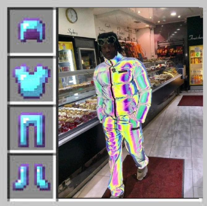 Enchanted diamond armor nigga - meme