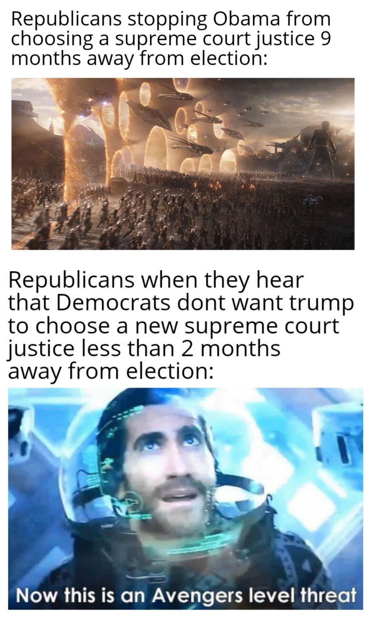 Oh the hypocrisy - meme
