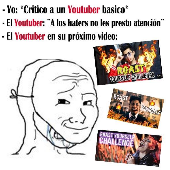Puse Youtuber en rojo jaja - meme