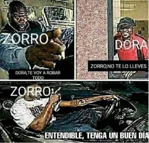 Zorro, no te lo lleves - meme