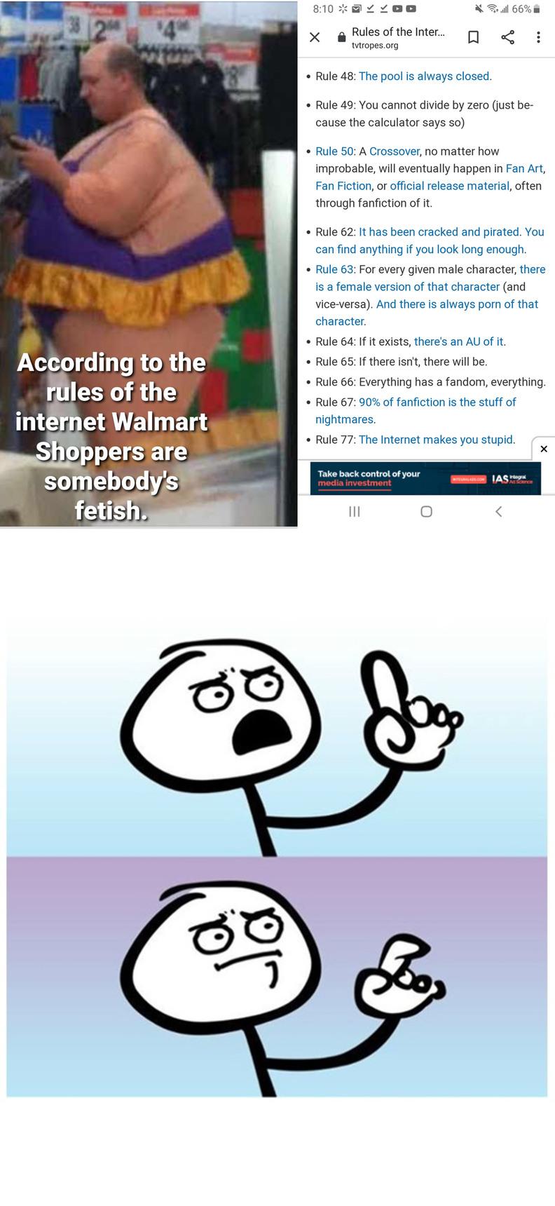 walmart shopers are somebody's fetish - meme