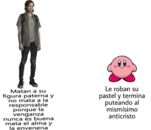 Kirby es un dios atrapado en ese cuerpo pequeño - meme