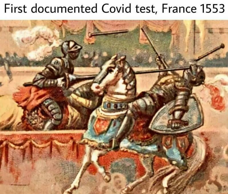Covid was there - meme