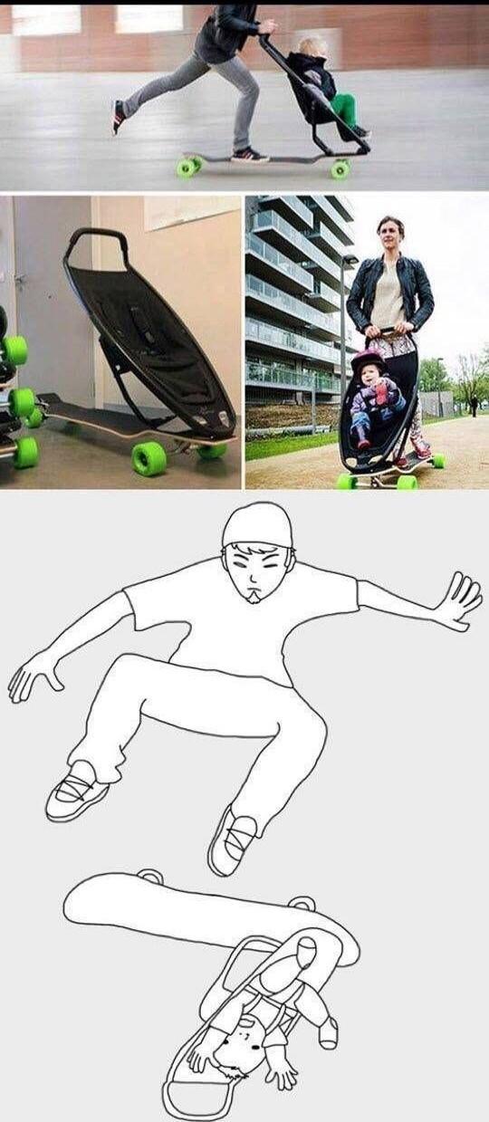 Agora eu sei exame te como andar de skate - meme